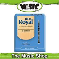 New Rico Royal 2 Strength Bb Clarinet Reeds - Box of 10 -  RCB1020