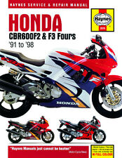 HAYNES 2070 MOTORCYCLE SERVICE REPAIR MANUAL HONDA CBR600 F2 F3 FOURS 91 - 98