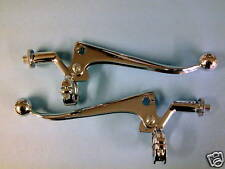 "PRE-UNIT GENUINE TRIUMPH T120 TR6 HANDLEBAR LEVERS  1"" BAR  BONNEVILLE 18/908/9"
