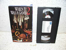 When It Was a Game 2 HBO VHS Video Out Of Print Mickey Mantle Willie Mays MLB