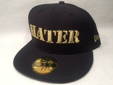 New Era Hater Black & Gold 59Fifty Fitted Cap Hat $35 Size 7 1/2