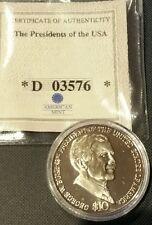 2004 Liberia $10 Dollar George W. Bush Coin American Mint wCOA & OGP D 03576