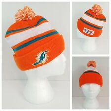 NFL Miami Dolphins Budweiser Promo Beanie Hat Toque Brand New Orange Teal White