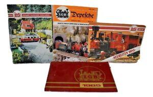 4 LGB Train Catalogs - LGB 1985 German Catalog 1983 0024 Catalog 1985 Depesche