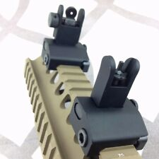 Tactical Micro Flip Up Rapid Transition Front & Rear Iron Sight Set Black