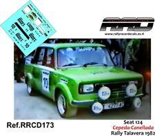 DECAL/CALCA 1/43; Seat 124; Cepeda-Canellada; Rally Talavera 1982