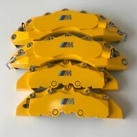 "Engineering Plastic M Performance Yellow Brake Caliper Covers 11""F 9""R For bmw 3"