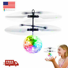 Mini Flash Flying Ball Infrared Induction Colorful LED Disco RC Helicopter Toy