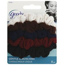 Goody Ouchless Small Ribbed Scrunchie, Assorted Colors 5 ea