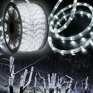 Cool White LED Rope 150ft 110V 2 Wire Flexible Lighting Outdoor Christmas Xmas