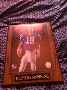 Peyton Manning Indianapolis Colts Plaque
