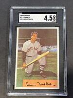 1954 Bowman #22 Sam Mele 213/1661 Putouts SGC 4.5 New Label Graded