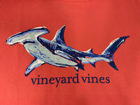 Vineyard Vines Mens Pocket S/S T-shirt Painted Hammerhead Sz Lg Coral~ NEW TAGS