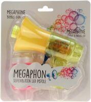 """Seifenblasenpistole """"Megaphon"""" mit LED-Licht inkl. Seifenblasenflüssigkeit gelb"""