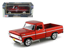 1969 Ford F-100 Pickup Truck Red 1/24 Scale Diecast Model By Motor Max 79315