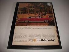 1965 MERCURY 4 DOOR HARDTOP ORIGINAL VINTAGE PRINT AD GARAGE ART COLLECTIBLE