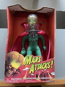 "Tim Burton Mars Attacks Ambassador 12"" Figure In Box"