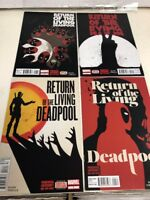 Marvel Comics Lot X 4 Return Of The Living Deadpool # 1 -4 # 2 # # 3 # 4 NM