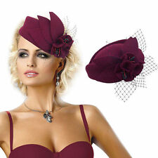 Womens Vintage Style Felt Wool Fascinator Cocktail Cheltenham Festival Hat A131