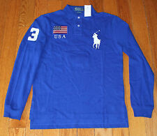 $145 NEW Polo Ralph Lauren Men's Small S USA United States CUSTOM FIT Shirt LS