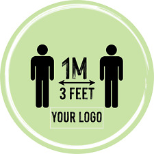 Social Distancing Floor Sticker/Decals - Anti Slip, Custom Logo, 1m - 3ft