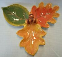 Certified International Susan Winget.Three leaves dish / plate / serving tray