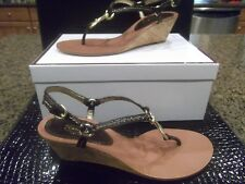 COACH GYNGER BROWN THONGS SANDALS NEW IN BOX SIZE 7.5