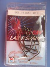 Eagle Claw L141G #2/0  Bronze Saltwater Lazer Sharp Hook. 5 Packages of 8  NEW