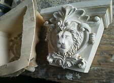 Lion face shelf mold for plaster or concrete  latex n  fiberglass