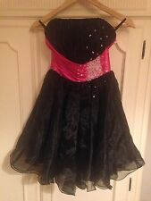 Prom, Party Dress Cocktail Bridesmaid Size 6 Short Black/Pink