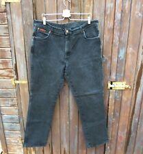 Wrangler Texas Stretch jeans uomo nero scambiato men denim w.40 L.34 It 54