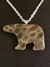 Petoskey Stone Bear Necklace