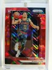 Rare: 2018-19 Prizm Trae Young Red Cracked Ice Prizm Refractor Rookie RC #78