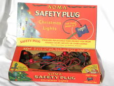 Vintage Noma Safety Plug Christmas Tree Indoor Lights Set, w/Fuses, +Display Box