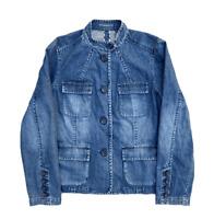 Liz Claiborne Women's Premium Pocket Button Denim Coat Jacket | 16