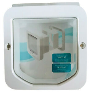 Sureflap Cat Flap Tunnel Extender Outside Wall Finish Back Plate White