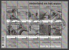 Nederland NVPH 2152-61 Vel Nederland en het Water 2003 Gestempeld Groningen