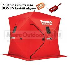 69151 Eskimo QuickFish 2 Ice Shelter Shanty 2 Man BONUS BUY ANCHOR ADAPTER
