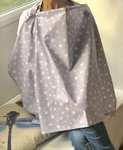 Breastfeeding Nursing Scarf Cover Feeding Baby Udder Apron Shawl 100% Cotton