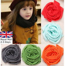 Children Kids Girls Boys Warm Cotton Plain Comfortable Soft Neck Scarf Wrap
