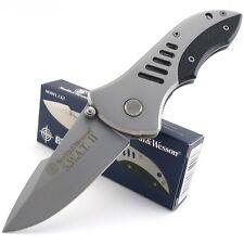 Couteau Smith&Wesson Extreme Ops Acier Inox Manche Fibre Carbone/Acier SW5CP