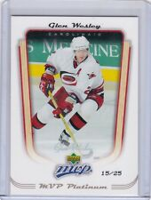 GLEN WESLEY 2005-06 05-06 UPPER DECK MVP PLATINUM #15/25 #72 CAROLINA