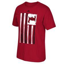 """Louisville Cardinals Ncaa Adidas """"Baseball Bat Flag"""" Team Men's Red T-Shirt"""