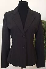 NWT Express Design Studio Women's Career Black Stripe Wool Blend Blazer Suit Sz4
