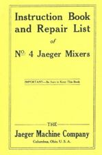 Jaeger No 4 Instruction Book & Repair List Manual Gas Engine Motor