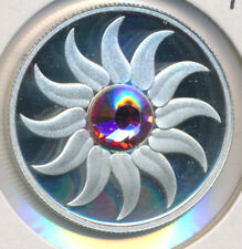 CANADA OCTOBER BIRTHSTONE FINE SILVER 3 DOLLAR 2011 TOURMALINE SWAROVSKI ELEMENT