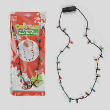 Christmas Flashing Luminous LED Light Up Necklace Costume Xmas Party Blinking