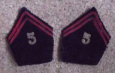 Paire de pattes de col d'officier 5° régiment du génie - cannetille