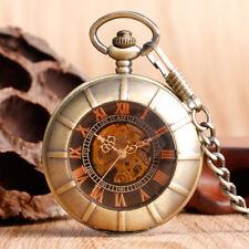 Pocket Watch Pendant Xmas Gift Antique Double Hunter Hand Winding Mechanical