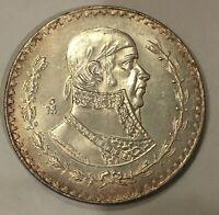1964 Mexico 🇲🇽One Un 1 Peso Silver Coin, free combined shipping